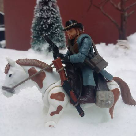 Rdr2 Arthur Morgan winter gunslinger custom