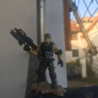 Image of: Test for Marcus Fenix ​​« Gears of war »before sculpting and painting