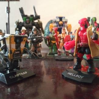 Image of: ClapTrap & Hellboy