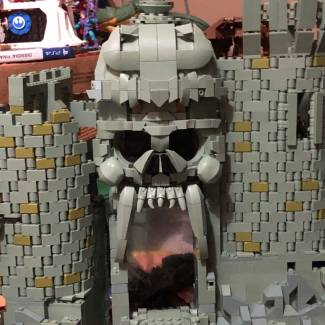 Image of: Modified greyskull skull