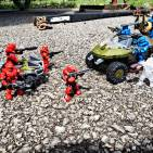 Image of: Red vs blue full on battle
