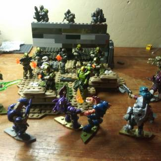 Image of: Battle at trios camp ( different angle)