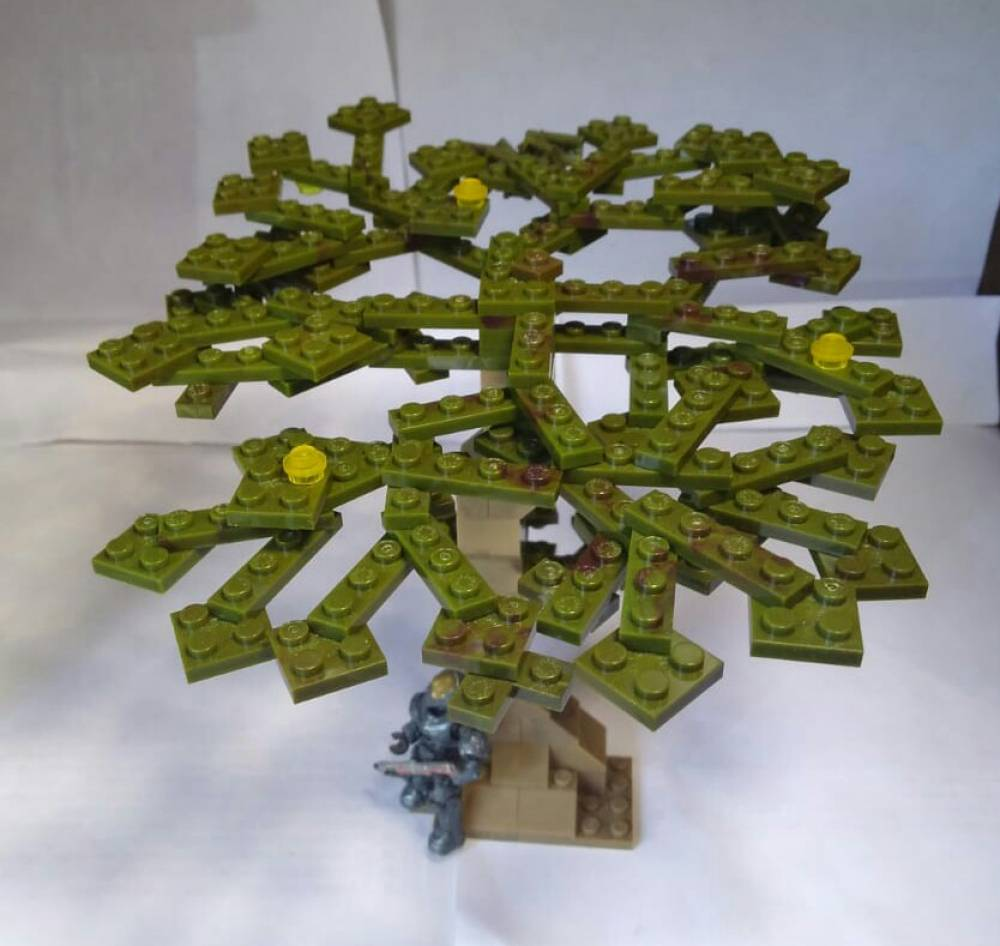 Image of: Green block tree