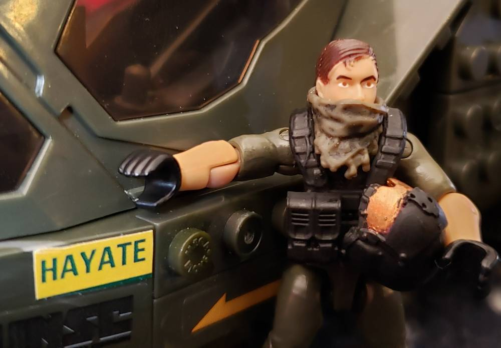"Image of: UNSC Falcon ""Hayate"" and LT Priest"