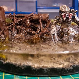 Image of: Predator Vs Dutch Diorama