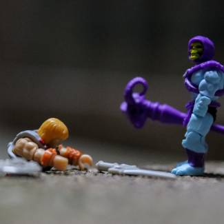 Image of: Mega Construx Masters of the Universe Series 1:  Skeletor, part 2!