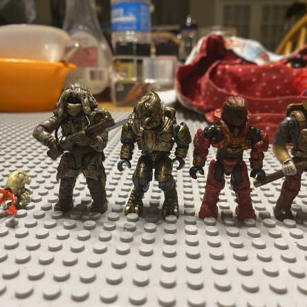 Some figures I put a wash on