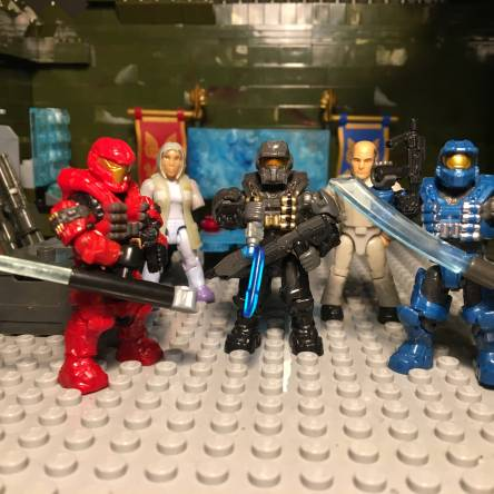 Custom Spartans and weapons
