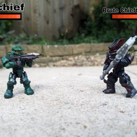 Chief VS Brute with health bars