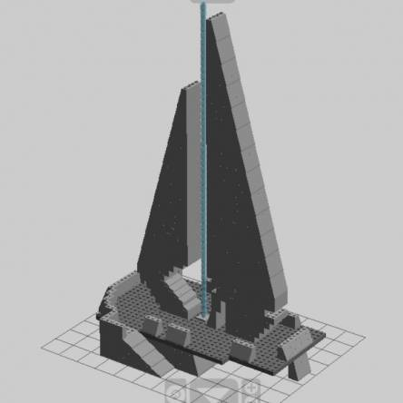 Halo Forerunner Beacon Tower MOC Blueprint