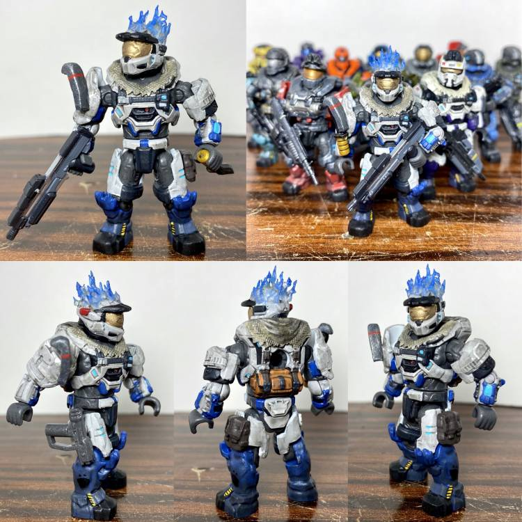 Image of: Halo: Reach Blue Flaming MK6!