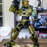 MA5C Assault Rifle Rebuild from Master Chief Battle for the Ark set