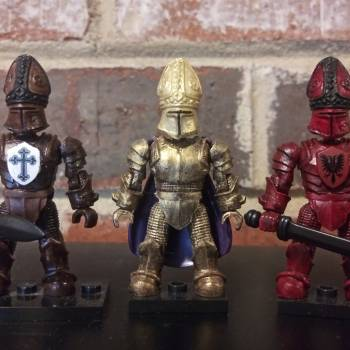 Mega Bloks King Arthur Dark Bishop custom figures