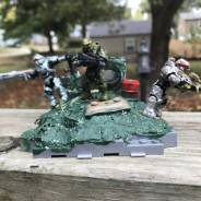 Custom halo stand and a new tall master chief I made