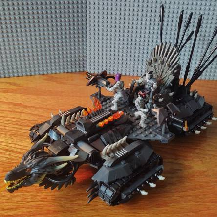 Drogon Tank and Alien Gunship