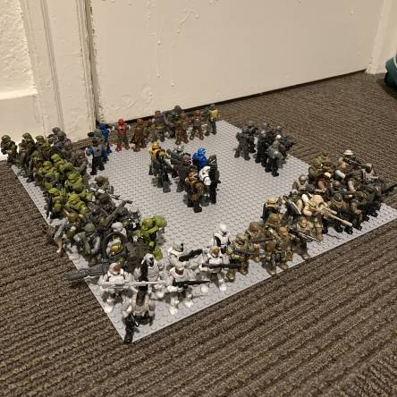 My marines and some ODSTs