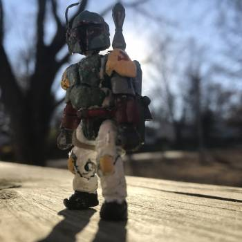 Custom boba fett, Jabba the Hutt, red the crew-mate  and pink the imposter