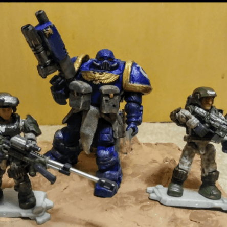 Ultramarine and Cadian forces.