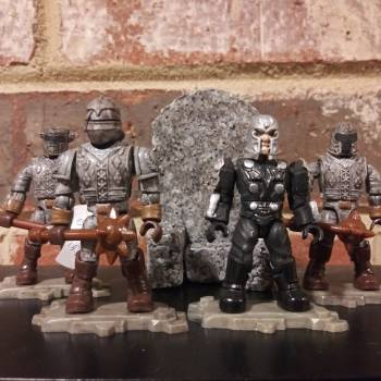 Deximus Dread and the Dreadfuls Knight figures