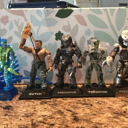 My predator collection and predator accessories, and some custom painted skulls