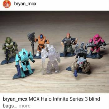 Blind bag figures with a clearer view of them and in person