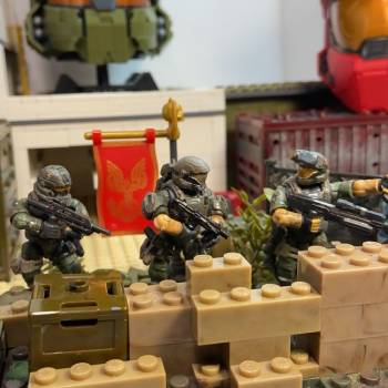 UNSC army Rangers and the chopper