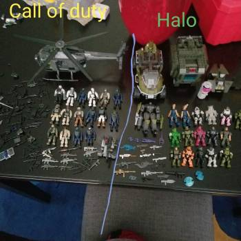 My collection of Call Of Duty and Halo